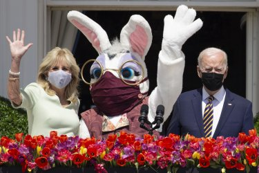 U.S. President Joe Biden Delivers Remarks Regarding Easter