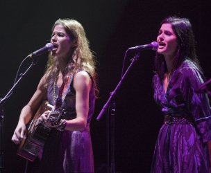 The Actor/Singer Identical Twin Hennessy Sisters Jacq and Jill perform during the Canada Walk of Fame Festival in Toronto