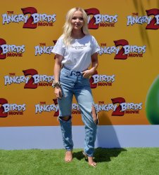 """Dove Cameron attends """"The Angry Birds Movie 2"""" premiere in Los Angeles."""