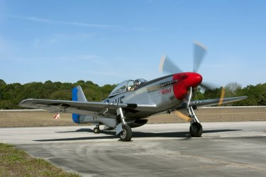 World War II P 51 Mustang performs at the Valiant Air Command 2013 Air Show.