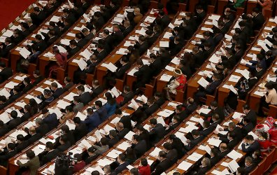 Chinese Delegates Attend a NPC Session in Beijing, China