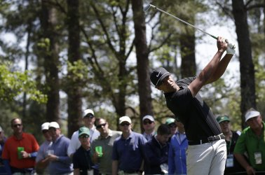Tony Finau at the 2018 Masters in Augusta