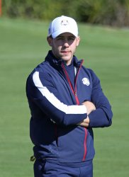 Nick Jonas plays celebrity tournament at the Ryder Cup 2018