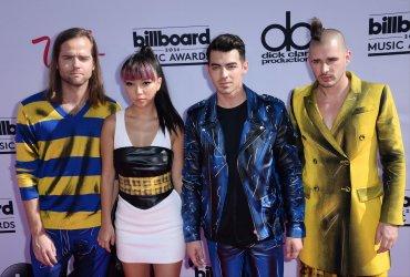 Recording artists Jack Lawless, JinJoo Lee, Joe Jonas and Cole Whittle of DNCE attend the Billboard Music Awards in Las Vegas