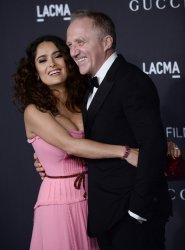 Salma Hayek and Francois-Henri Pinault attend LACMA Art + Film gala in Los Angeles