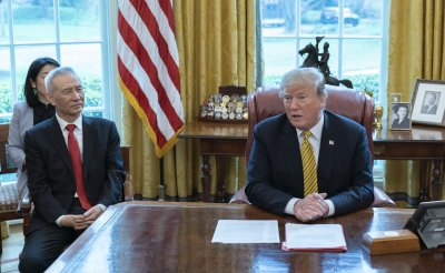 President Trump meets with  China's Vice-Premier Liu He at the White House