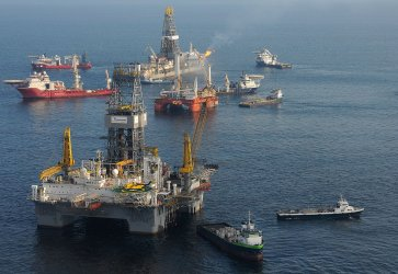 Gas from damaged wellhead burned off in Gulf of Mexico