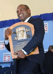 Baseball Hall of Fame induction ceremony in Cooperstown