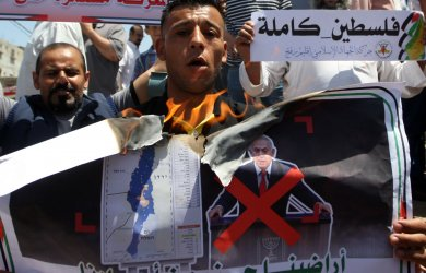 Palestinians Protest Against Israel's Plans to Annex Parts of the West Bank