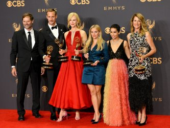 Jeffrey Nordling, Alexander Skarsgard, Nicole Kidman, Reese Witherspoon, Zoe Kravitz, and Laura Dern wins award at the 69th Primetime Emmy Awards in Los Angeles