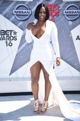 Remy Ma attends the BET Awards in Los Angeles