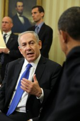 President Barack Obama meets with Israeli Prime Minister Benjamin Netanyahu in the White House