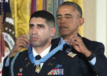 President Obama awards the Medal of Honor to Florent Groberg