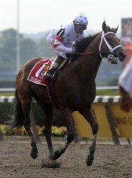 Da' Tara wins the 140th Belmont Stakes in New York