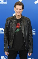 Jim Carrey attends a photo call for Jim & Andy: The Great Beyond at the 74th Venice Film Festival.