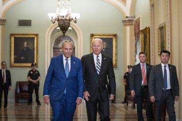 President Biden Attends Democratic Caucus Luncheon on Capitol Hill