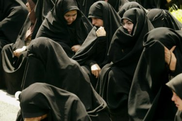 IRANIAN MOURN THE HEATH OF PROPHET MOHAMMED'S DAUGHTER