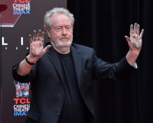 Sir Ridley Scott immortalized in forecourt of TCL Chinese Theatre in Los Angeles