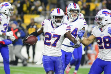Buffalo Bills Tre'Davious White Celebrates Interception