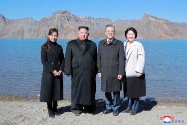 North Korea's Kim Jong Un Welcomes South Korean President Moon Jae-in Visit Mt. Paektu