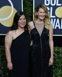 Laura Dern and Monica Ramirez attend the 75th annual Golden Globe Awards in Beverly Hills