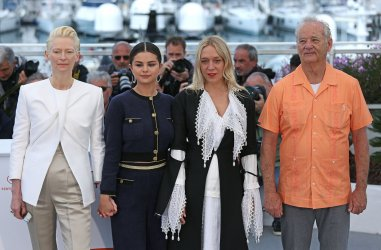 The cast from The Dead Don't Die attend the Cannes Film Festival