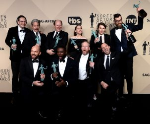 The cast of 'Veep' wins an award at the 24th annual SAG Awards in Los Angeles