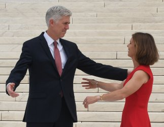 AssociateJustice Neil Gorsuch and wife Marie Louise at the Supreme Court