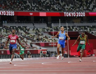 Lamont Marcell Jacobs of Italy Wins Gold in Men's 100M at Tokyo Olympics