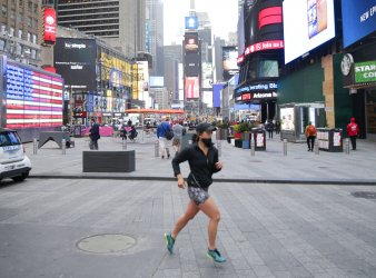 Pedestrian Traffic in Times Square in New York
