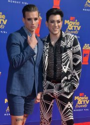 Manuel Gutierrez and Nico Tortorella attend the MTV Movie & TV Awards in Santa Monica, California