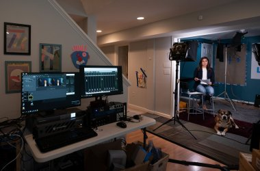PBS NewsHour's Amna Nawaz Works From Home in Virginia