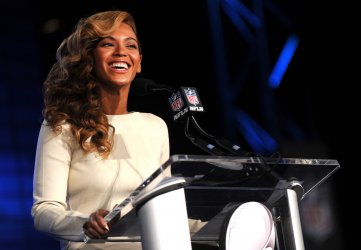 Beyonce holds the Pepsi Super Bowl XLVII half time show press conference in New Orleans