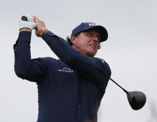 Phil Mickelson on the 2nd day of the Open Championship at Royal Portrush