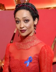 Ruth Negga arrives for the 89th annual Academy Awards in Hollywood