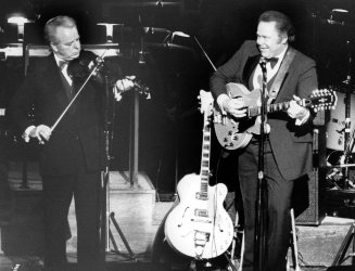ROBERT BYRD PERFORMING WITH MUSICIAN ROY CLARK AT THE KENNEDY CENTER