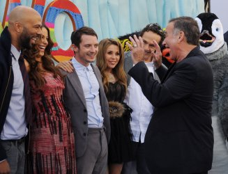 """Alecia Moore aka """"Pink""""Sofia mingles with cast members at the """"Happy Feet Two"""" premiere in Los Angeles"""