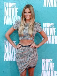 Renee Bargh arrives at the 2012 MTV Movie Awards in Universal City, California