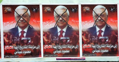 Palestinians Protest on President Abbas' Decision to Suspend Action