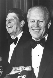 Ronald Reagan and Gerald Ford at Fundraiser