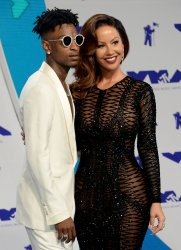 21 Savage and Amber Rose attend the 2017 MTV Video Music Awards in Inglewood, California