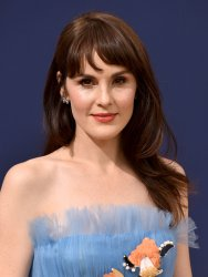 Michelle Dockery attends the 70th annual Primetime Emmy Awards in Los Angeles