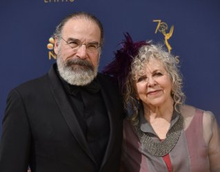 Mandy Patinkin and Kathryn Grody attend the 70th annual Primetime Emmy Awards in Los Angeles