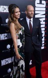 "Jason Statham and Jessica Alba attend ""Mechanic: Resurrection"" premiere in Los Angeles"