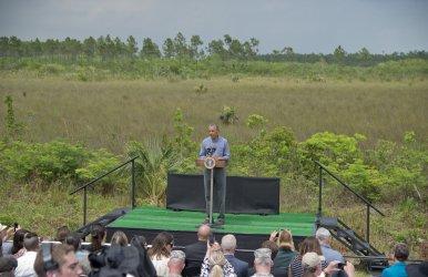 President Barack Obama in Everglades National Park