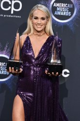 Carrie Underwood wins awards at American Music Awards in LA