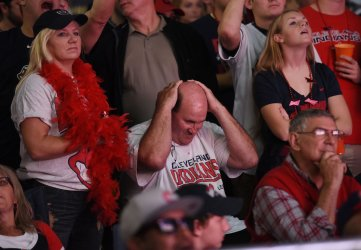 Cleveland fans during World Series Game 7