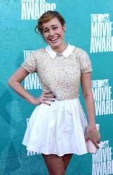 Brie Larson arrives at the 2012 MTV Movie Awards in Universal City, California