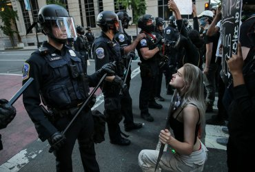 Protesters Demonstrate Against Police Killing Of George Floyd
