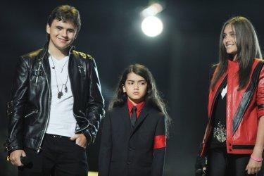 Michael Jackson's children at Millennium Stadium in Cardiff